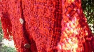 MaGraM: Tejidos Artesanales, Hechos En Telar, Color Rojo