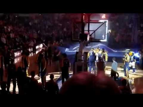 Indiana Pacers vs Sacramento Kings Player Introductions (1/14/14)