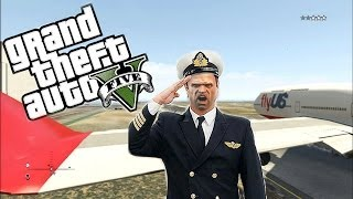GTA 5 Trevor The PILOT Job Search (GTA V FUNNY MOMENTS