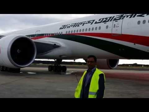 Biman Bangladesh Air line boeing 777 Rome airport