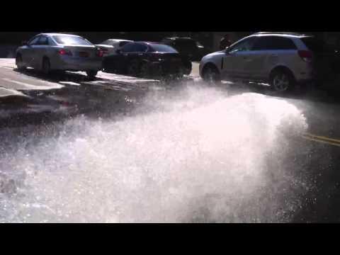 NYC Fire Hydrant running full blast
