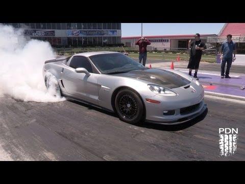 1200+HP Turbo Corvette running 168mph - 1/4 mile