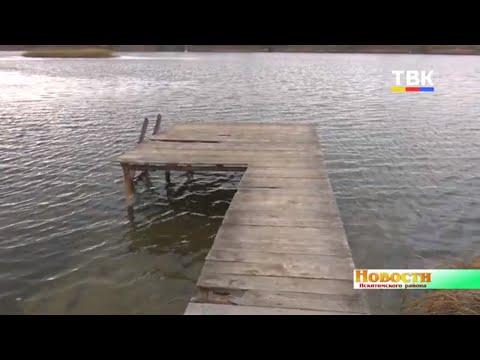 Жители д. Бурмистрово ремонтируют старый пирс