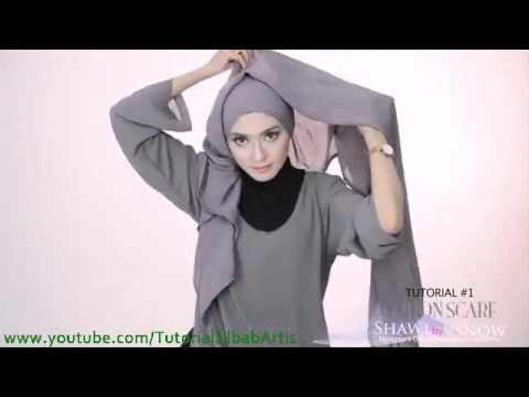 Tutorial hijab pashmina simple Kreasi Shawlbyvsnow Cotton Scarf  2 style