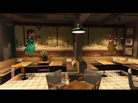 Thiết kế quán cafe Take away - Twitter Beans Coffee
