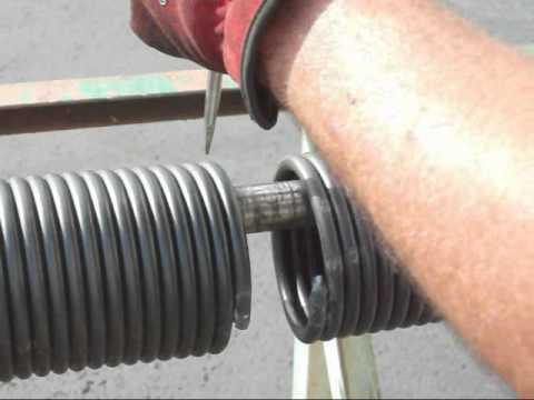 Uncoiling torsion springs can cause grave injury if you don't know how to handle them