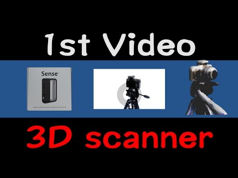 3D Systems Sense Scanner. First time TEST video.