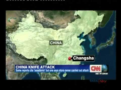 Brutal knife attack in China