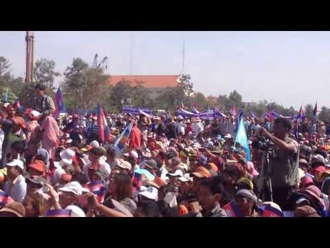 Kem Sokha's Speech Toward Thousands of People at Democratic Park