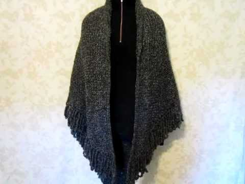 Shawl - Knit with Lion Brand Homespun Yarn, Edwardian - YouTube