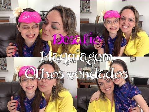 Desafio: Maquiagem de Olhos Vendados com Andreza Goulart