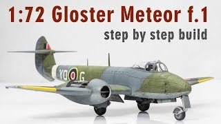 1:72 Gloster Meteor F.1 Step by Step Model Aircraft Build