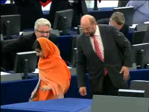 Malala Yousafzai receives 2013 Sakharov Prize - 29min, good english audio