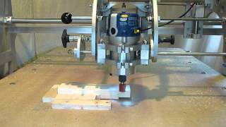 Clone 4D - Router Duplicator / Copy Carver - Joinery - Cutting a Tenon & Open Mortise