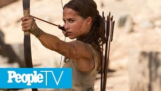 Alicia Vikander Shares The Hardest Part Of Filming 'Tomb Raider': She Swam With Sharks! | PeopleTV