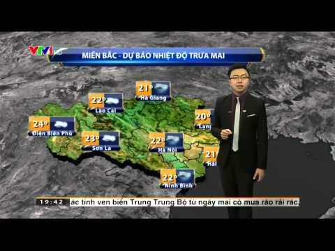 ☀ Bản tin dự báo thời tiết ngày 8/1/2016