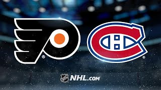 Mrazek, Couturier push Flyers past Canadiens, 1-0