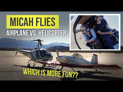 Helicopter vs. Airplane   Which is more fun to fly?!?