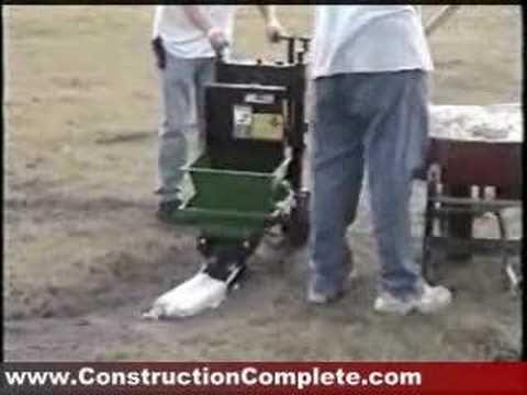 concrete landscape curb machine