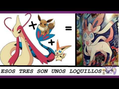 Ninfia eevee evolucion Ninfia o Sylveon nuevo pokemon + mewtwo vs genesect pelicula coro coro Ninfia