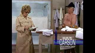 Johnny Carson with Betty White: Female Reporter in the Locker Room, 1978