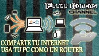 Como Compartir Internet WIFI Desde Tu Pc, Via