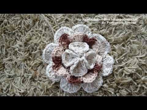 Flor Rainha em Crochê Parte -1