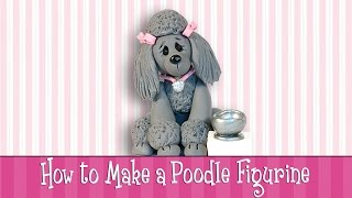 "Polymer Clay Tutorial How To Make A ""Poodle"" Figurine"