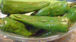 Stuffed Green Chilli Pickle Www.inHouseRecipes.com
