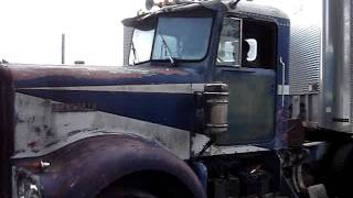 1964 Kenworth W925 Truck #2 Start Up And Moving It