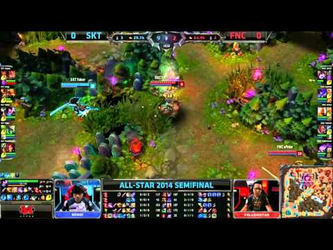 SKT (Faker Yasuo) VS Fnatic (xPeke Kayle) Game 1 Highlights - Allstars Paris 2014