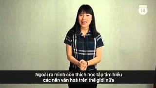 Khánh Vy giới thiệu về mình bằng tiếng Anh được nhận xét là hay như người bản ngữ.