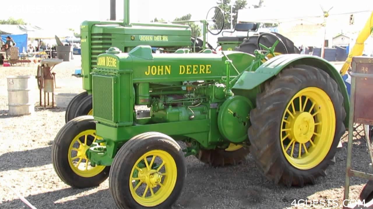 Antique John Deere Show Tractors : Antique john deere tractors youtube