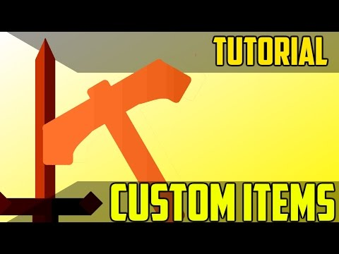 How Make Custom Items  With Unique Abilities- Minecraft Command Block Tutorial [1.11][1.10][1.9]