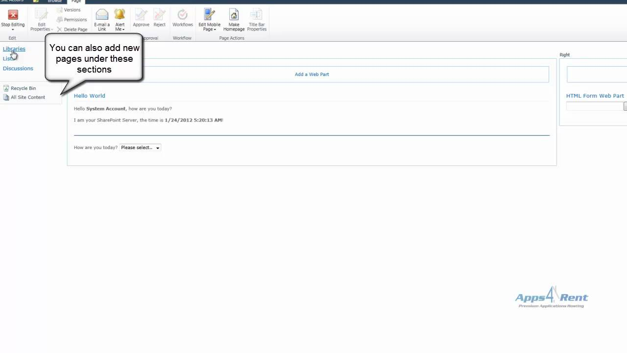 Add New Web Part Now If You Navigate To The Save Site As A Template