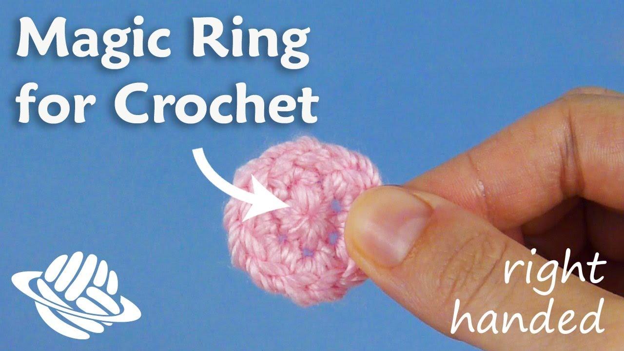 Adjustable Ring Crochet Left Handed