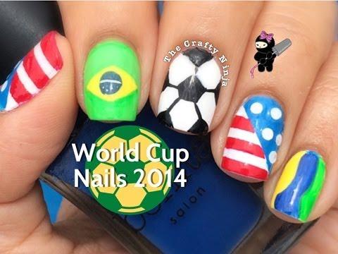 World Cup 2014 Soccer Nails - 2014-es Foci VB körmök