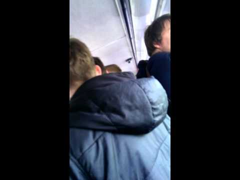 Arsenal fans on bus to stoke
