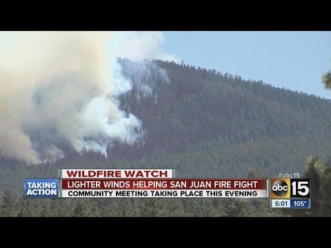 Crews making progress against Ariz. wildfire