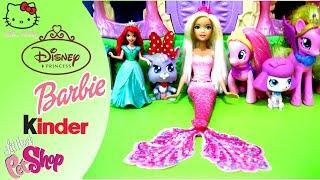 Barbie Mermaid, Disney Princess Ariel Little Kingdom Magic