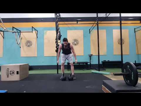 Double Clean and Press KB 24kg - Ladder - Crossfit Dádiva