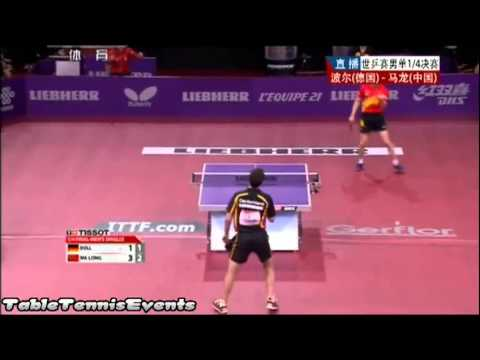 Timo Boll Vs Ma Long: 1/4 Final [WTTC 2013 Paris]