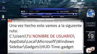 HUD-Time En Español, Modo 24 Horas Y Segundero (Gadget