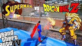 GTA IV Dragon Ball Z Goku + Superman Mod Who Is Stronger
