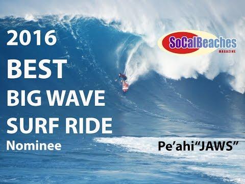 XXL BEST Big Wave Surf Ride 2016 Nominee Peahi ''JAWS'' Maui