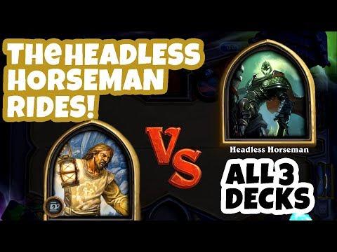 Hearthstone Gameplay | The Headless Horseman Rides! Tavern Brawl with All 3 Decks