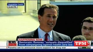 Santorum Speaks at the Supreme Court