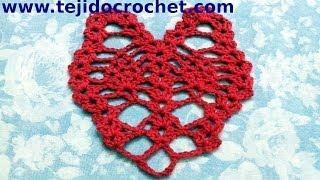 Corazon Calado En Tejido Crochet Tutorial Paso A Paso