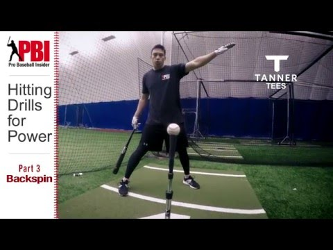 Baseball Hitting Drills for More Power Part 3, Backspin