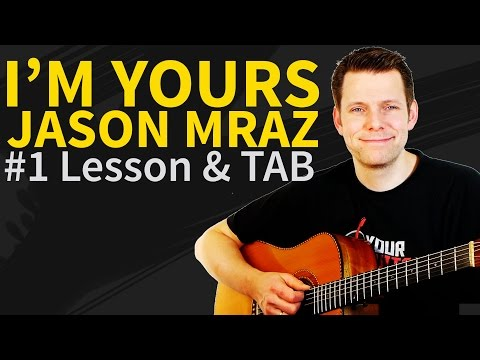 how to play I'm yours by jason mraz on guitar - Tutorial/instructional video